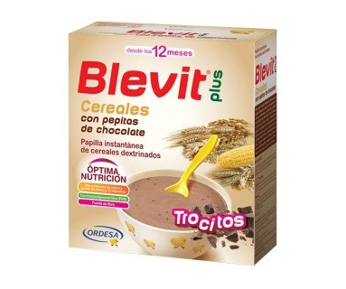 BLEVIT PLUS CEREALES Y PEPITAS DE CHOCOLATE 600G
