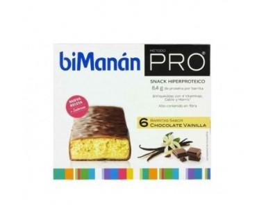 BIMANAN PRO BARRITA CHOCOLATE VAINILLA 6 UD