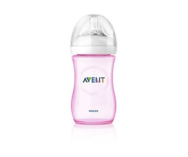 BIBERON AVENT NATURAL ROSA 330 ML