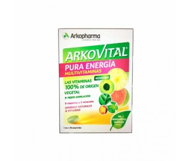 Arkovital Pura Energia Multivitaminas 30 comprimidos Lab Arkopharma