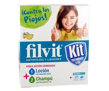 Kit Filvit locion 100ml +champu 100ml permetrina